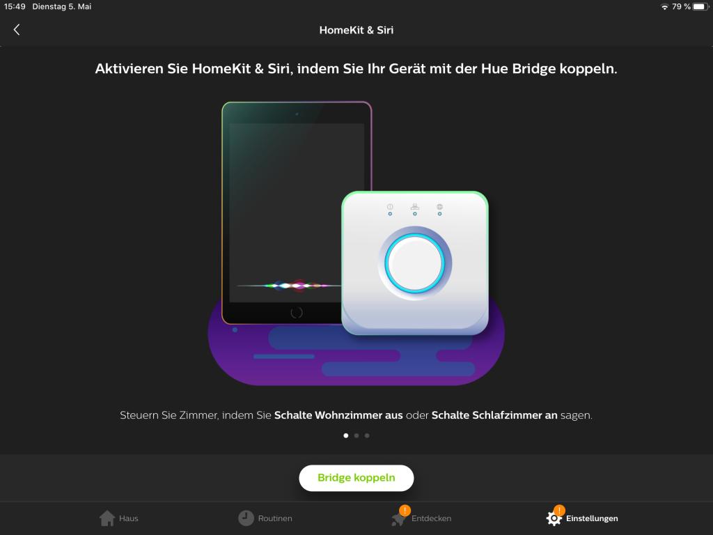 Philips Hue in HomeKit einbinden